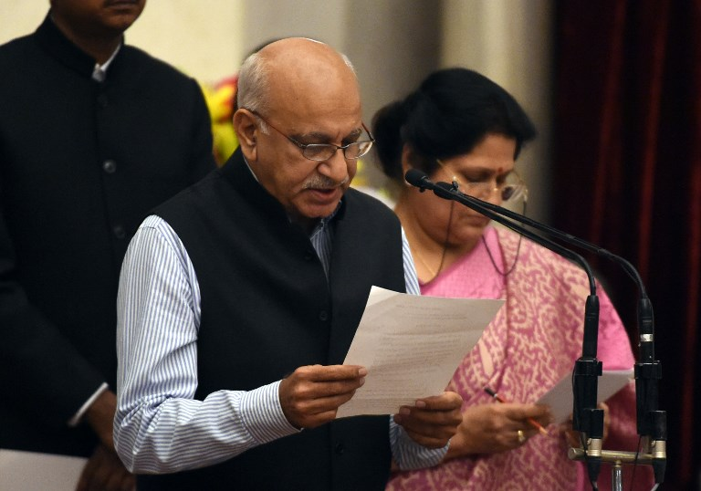 Bharatiya Janata Party politician and former minister MJ Akbar has denied the sexual harassment charges laid against him by more than a dozen women. Photo: AFP/Prakash Singth