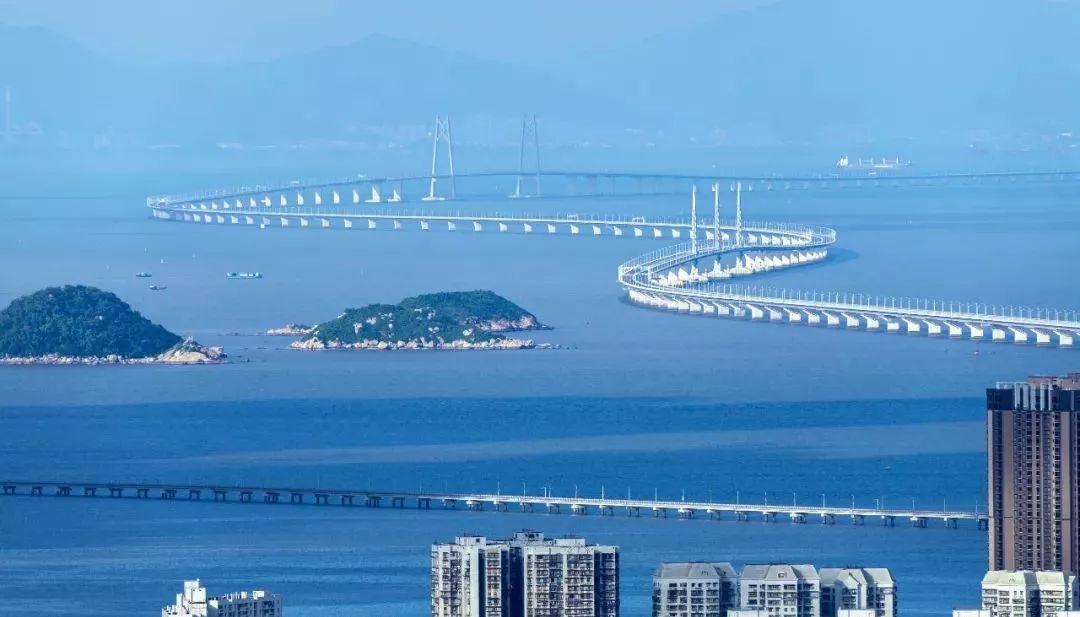 The 55-km Hong Kong-Zhuhai-Macau Bridge that spans the Pearl River is the world's longest bridge. Photo: Xinhua