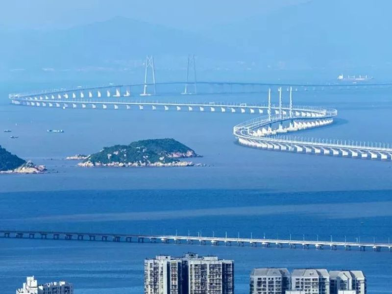 The 55-km Hong Kong-Zhuhai-Macau Bridge that spans the Pearl River is the world's longest bridge. Photo: Xinhua