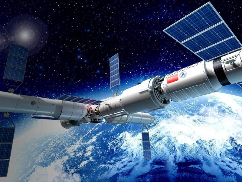 A computer-generated rendering of the Tiangong space station, set to be up and running in 2022. Photo: Handout
