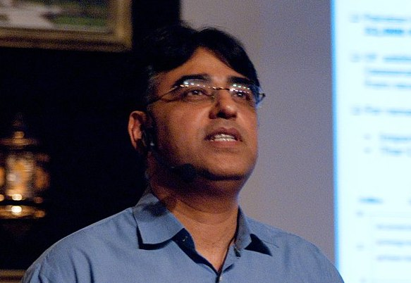 Pakistani Finance Minister Asad Umar. Photo: Wikipedia