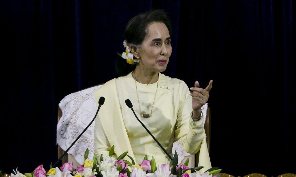 緬甸商界對國務資政兼領導人昂山素季政府的怠惰感到沮喪。相片:AFP / Ye Aung Thu