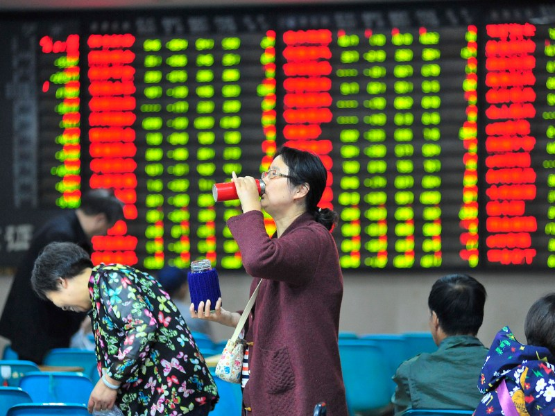 The Shanghai Composite Index is down 20% year-to-date. Photo: AFP