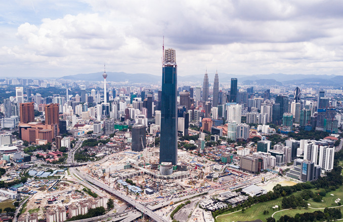 The 106-story Exchange 106 has wrested the title of Malaysia's tallest building from the Petronas Twin Towers. Photo: Handout