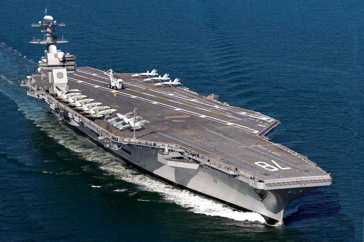 Gerald R. Ford aircraft carrier is at the cutting-edge of US naval power. Photo: US Navy