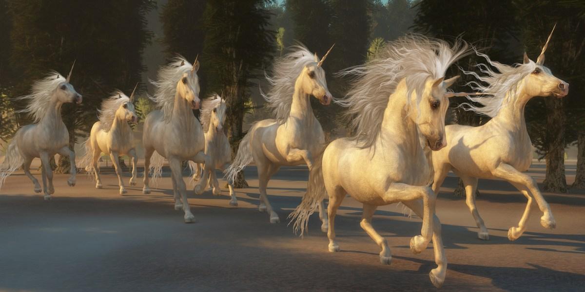 Glories of unicorns graze on a diet of venture capital from Dallas to New Delhi. Illustration: iStock
