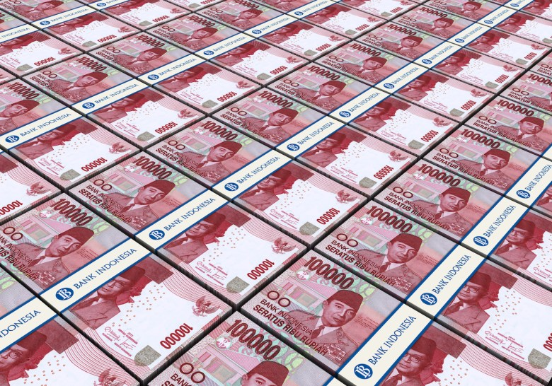 Indonesia's rupiah has lost more than 10% of its value to the dollar so far this year. Image: iStock/Getty Images