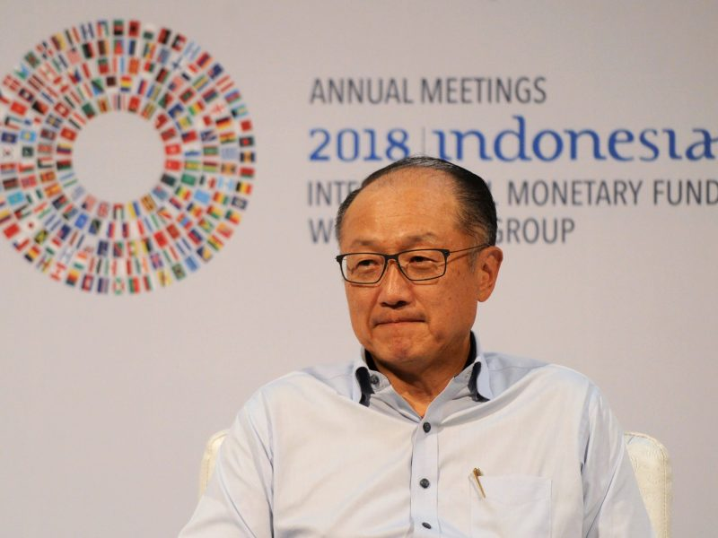 World Bank president Jim Yong Kim at the IMF and World Bank annual meetings in Nusa Dua on Indonesia''s resort island of Bali on October 10, 2018. Photo: AFP / Sonny Tumbelaka