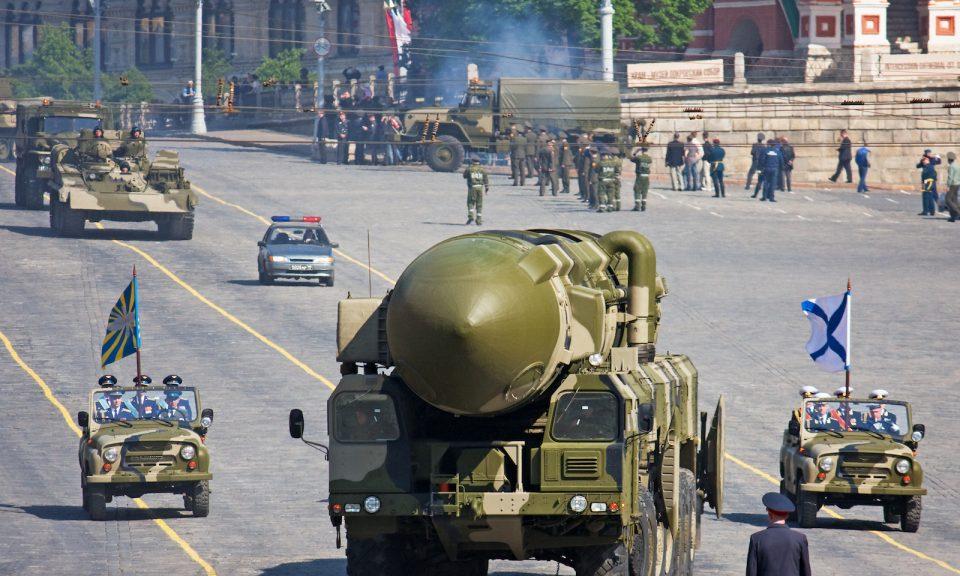 2008年5月5日,在莫斯科紅場舉行的閱兵彩排中有一枚大型俄羅斯導彈出現。相片:iStock