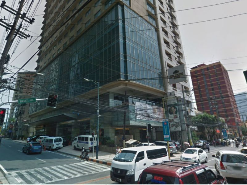 St Giles Hotel in Makati in the Philippine capital. Photo: Google Maps