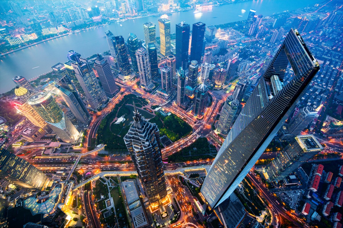 A view of the waterfront Lujiazui financial district in Shanghai at night. Photo: iStock