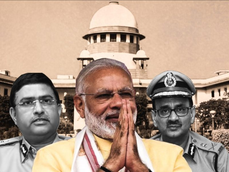 CBI special director Rakesh Asthana (left), Prime Minister Narendra Modi (center) and agency director Alok Verma. Photo: Asia Times Collage