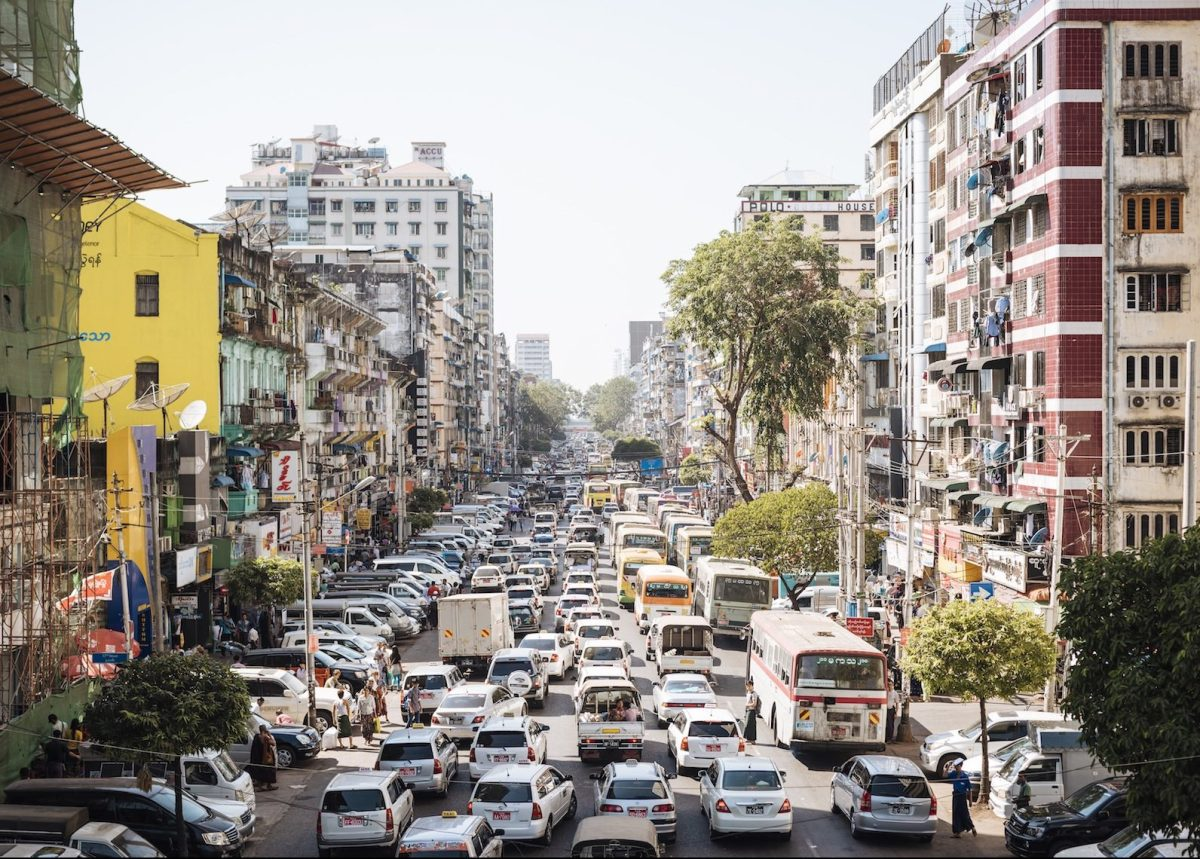 File pic of Mahabandoola Road in Yangon. A major high-rise project has been shut down by the military after contract breaches and public concern about the impact of buildings on a nearby reservoir. Photo: Ben Pipe/ Robert Harding via AFP