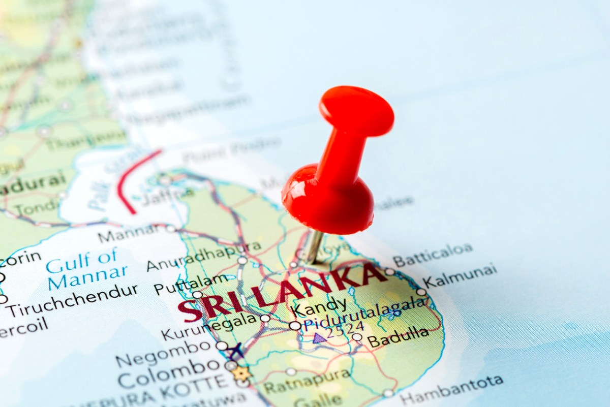Map of Sri Lanka: iStock