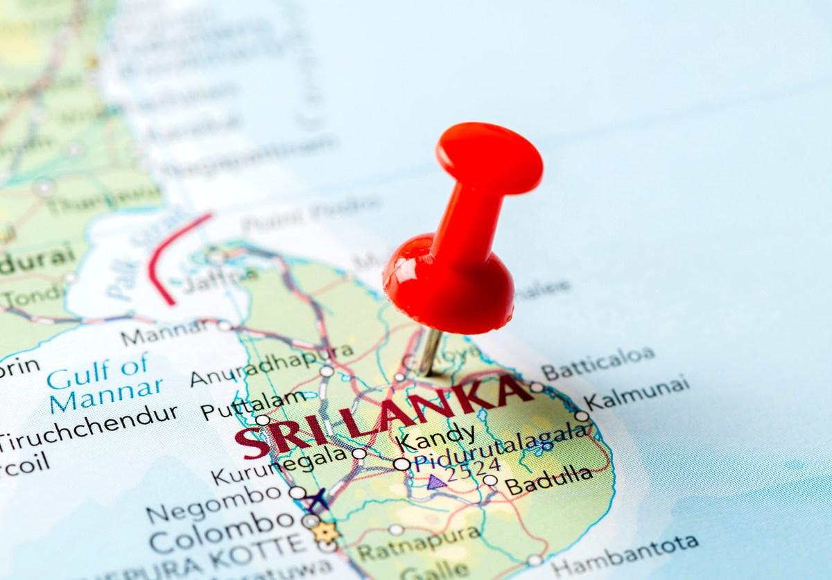 Map of Sri Lanka: iStock