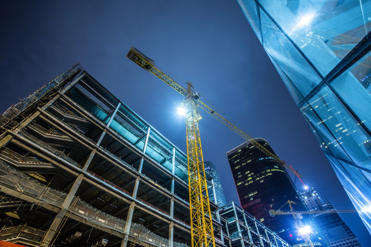 One of many construction sites in Beijing Photo: iStock
