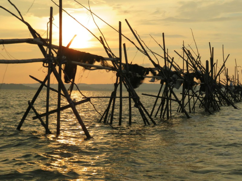 Fishing traps off Brunei. More foreign vessels are being found fishing illegal in the country's waters. Photo: iStock