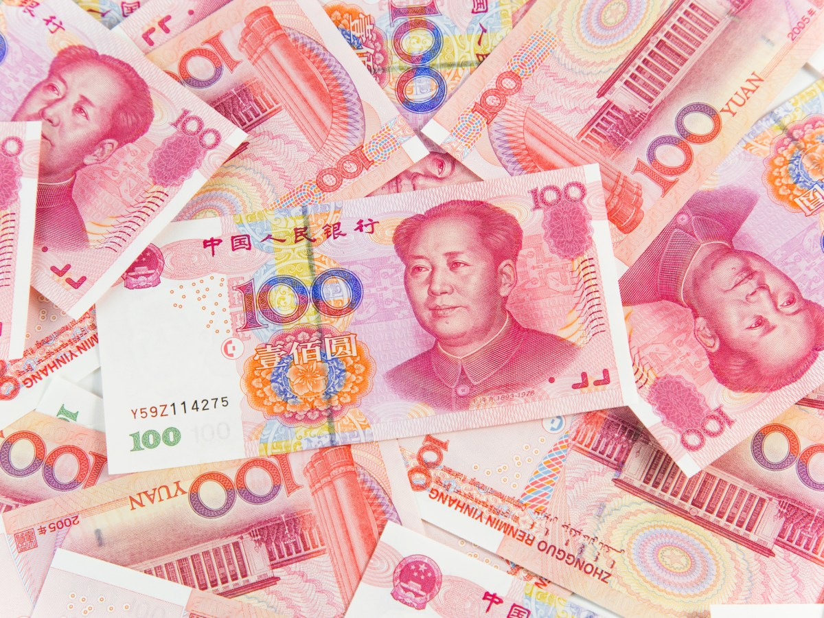 China's one hundred yuan. Photo: iStock