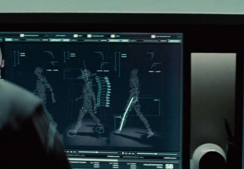 A still from the 2015 action thriller Mission: Impossible – Rogue Nation, where a gait analysis system is used as part of a security protocol. Photo: Handout