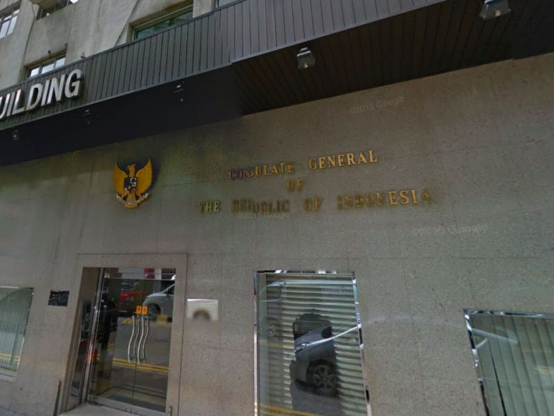 Indonesian Consulate General in Hong Kong in Causeway Bay, Hong Kong Island Photo: Google Maps