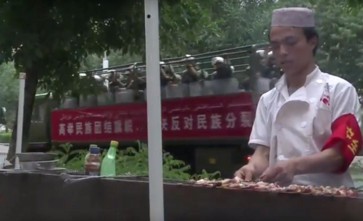 About 1.5 million ethnic Kazakhs live in Xinjiang, a region that borders Central Asia and has long been home to ethnic tensions. Photo: AFP screen grab