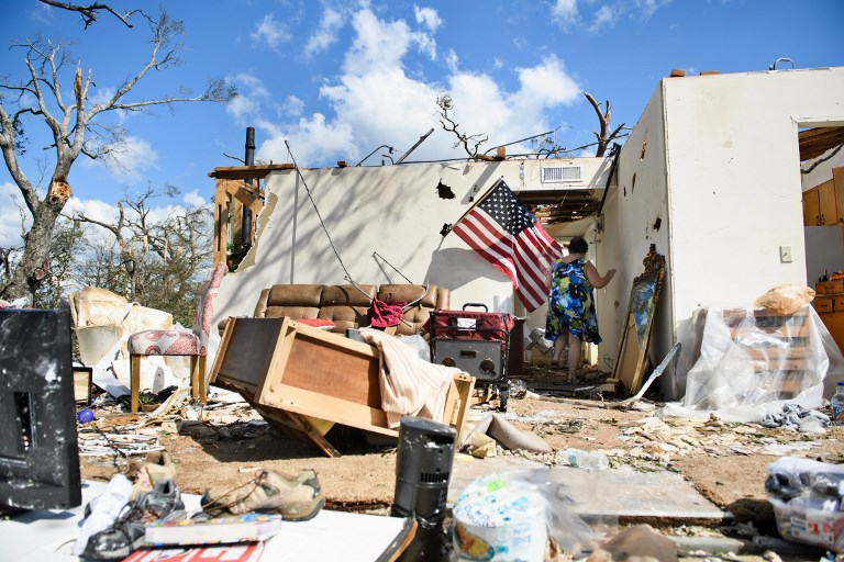 A scene of devastation in Florida after Hurricane Michael battered the region in September. Photo: AFP