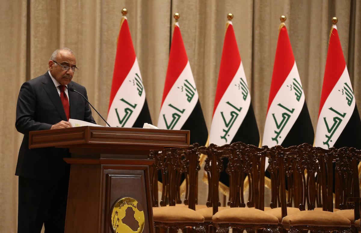 رئيس الوزراء عادل عبد المهديصورة: ا ف ب
