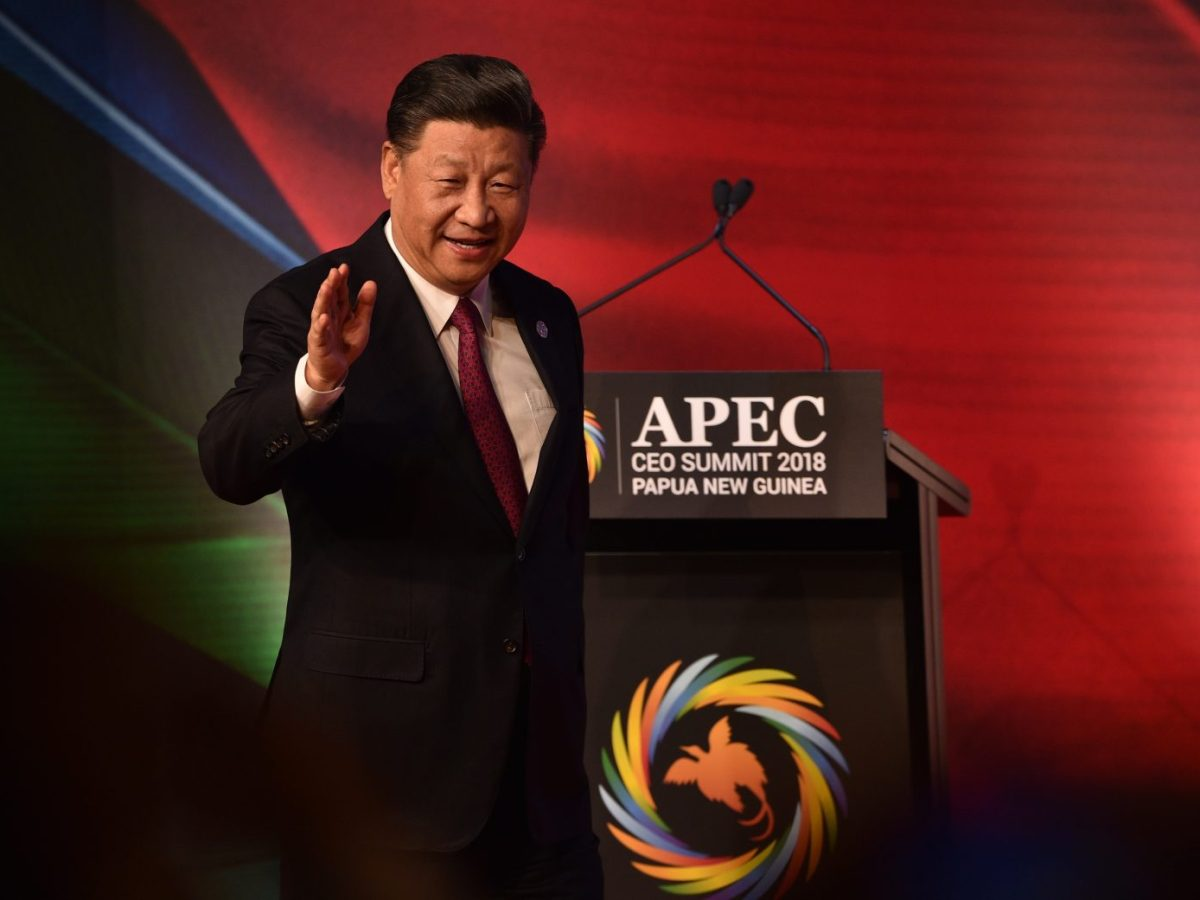 Chinese President Xi Jinping arrives to make his keynote speech at the the Asia-Pacific Economic Cooperation (APEC) summit in Port Moresby. Photo: AFP