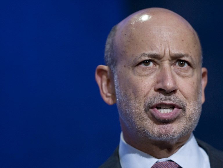 Former CEO of Goldman Sachs, Lloyd Blankfein. Photo: AFP