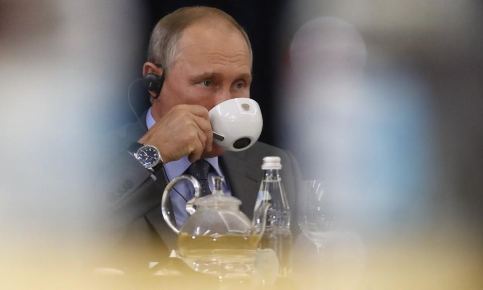 俄羅斯總統普京於2017年10月出席在俄羅斯索契舉行的峰會。相片:Reuters / Maxim Shemetov