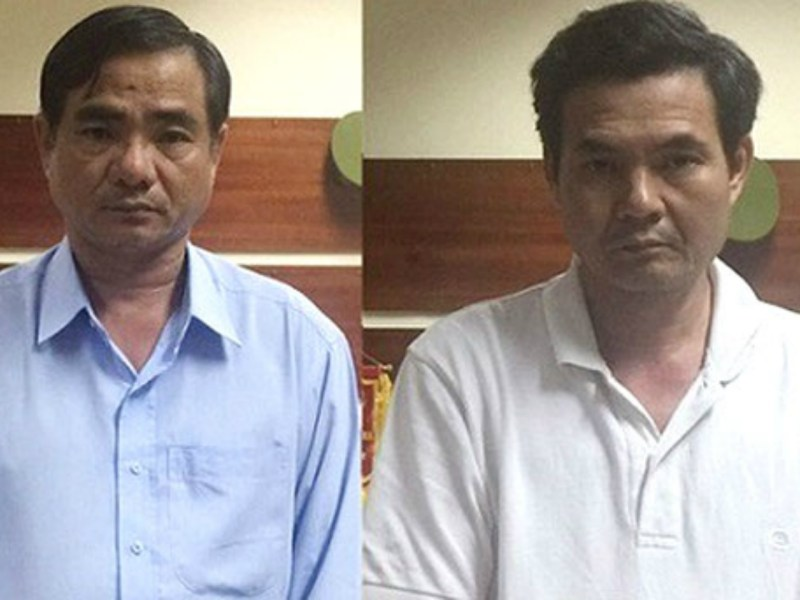 From left: Doan Van Phuc and Truong Van Em. Photo courtesy of Vietnam's Investigation Agency.