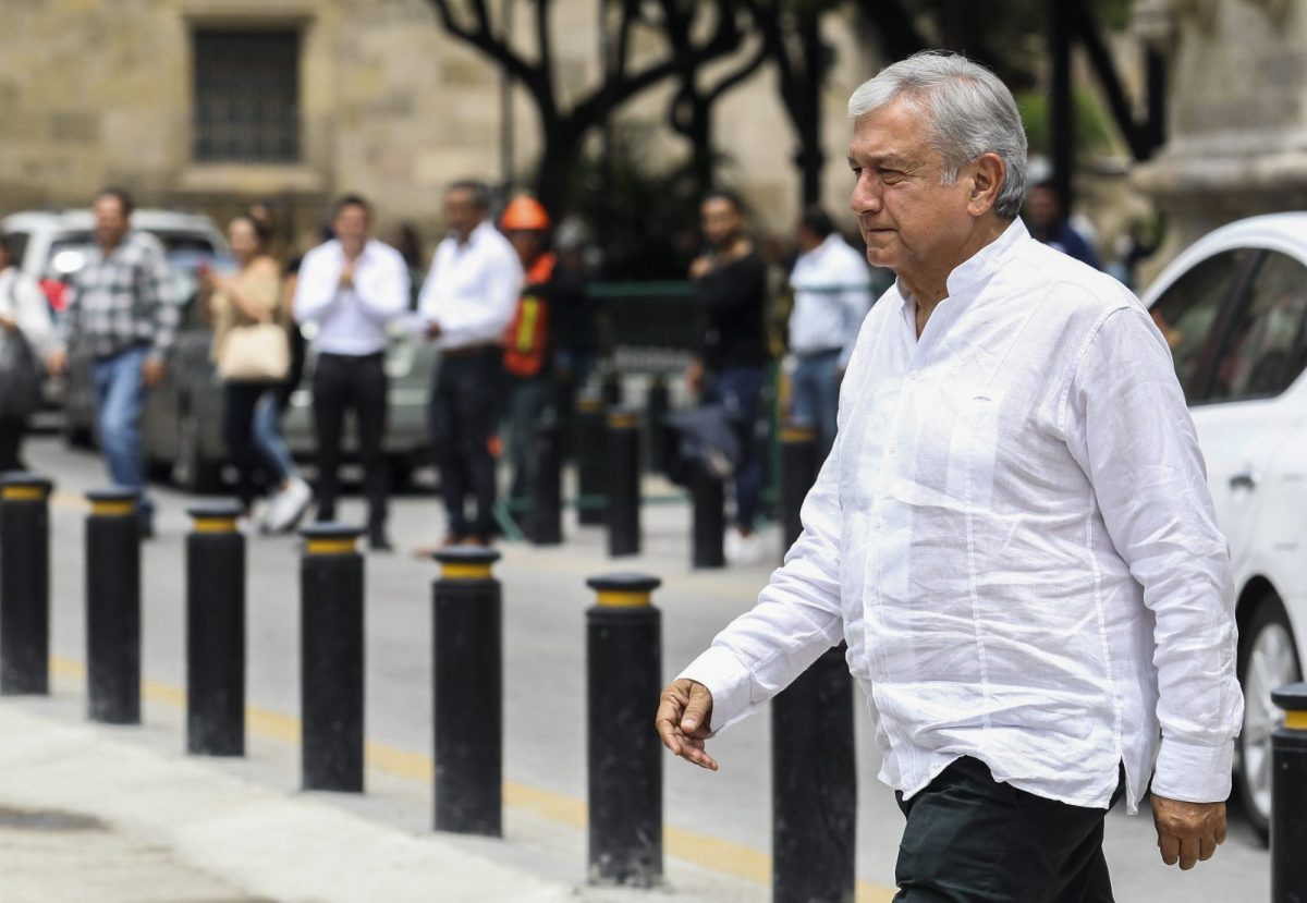 Mexican President-elect Andres Manuel Lopez Obrador is an anti-establishment leftist whose policies have alarmed economists. He will take office on Saturday. Photo: Ulises Ruiz / AFP