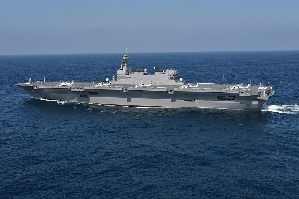 The 27,000-ton Izumo-class helicopter destroyer.  Photo: Handout