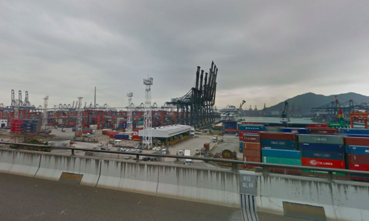The Kwai Tsing Container Terminals in Kwai Chung, the New Territories. Photo: Google Maps
