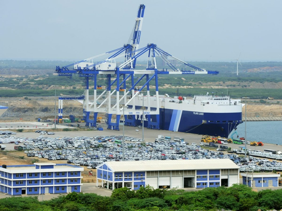 The port facility at Hambantota on February 10, 2015. Sri Lanka's government is mulling the future of a string of white elephants. Photo: AFP/Lakruwan Wanniarachchi