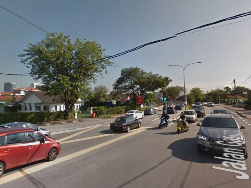 Jalan Gasing in Malaysia where the incident took place. Photo: Google Maps