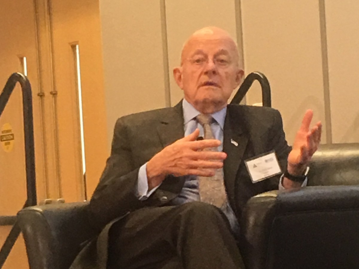Former CIA director James Clapper. Photo: Jefferson Morley