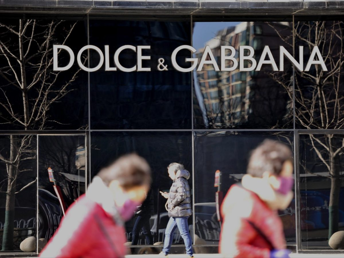 Customers ignore and walk past a Dolce & Gabbana shop in Shenyang, in Liaoning province, on November 22, 2018. Photo: AFP