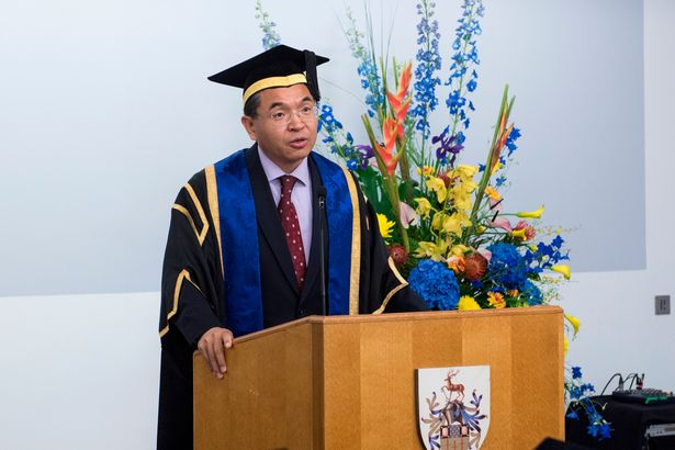 University of Surrey's President and Vice-Chancellor Max Lu. Photo: Handout