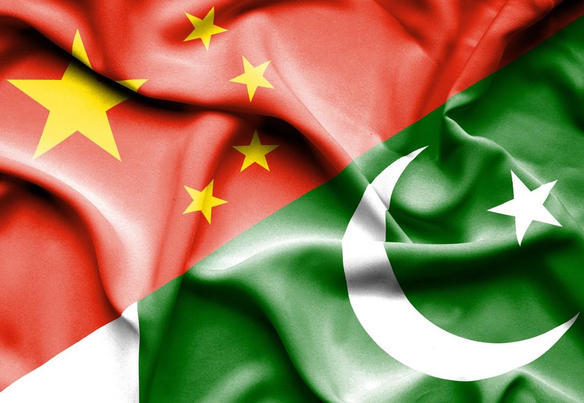 Waving flag of Pakistan and China. Image: iStock