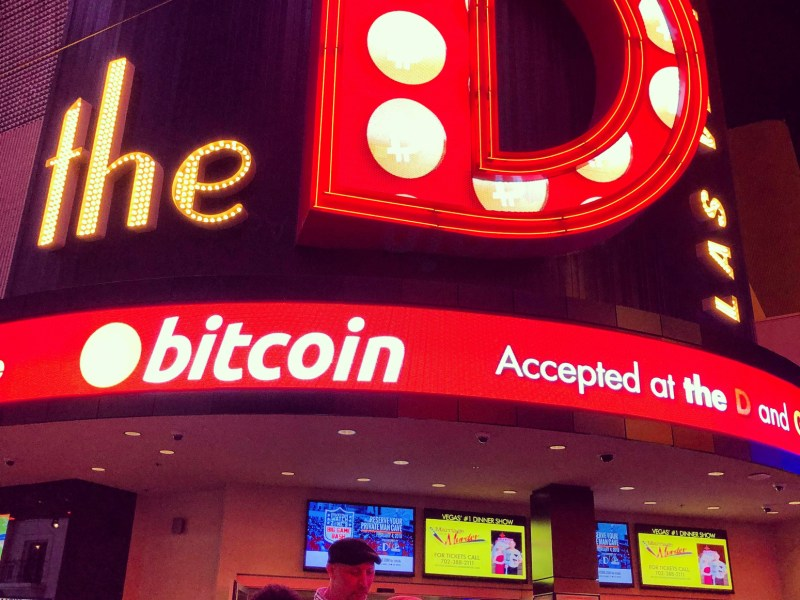 A bar in Las Vegas USA with a Bitcoin teller machine. In India, police recently seized crypto ATMs as they deemed them illegal. Photo: iStock