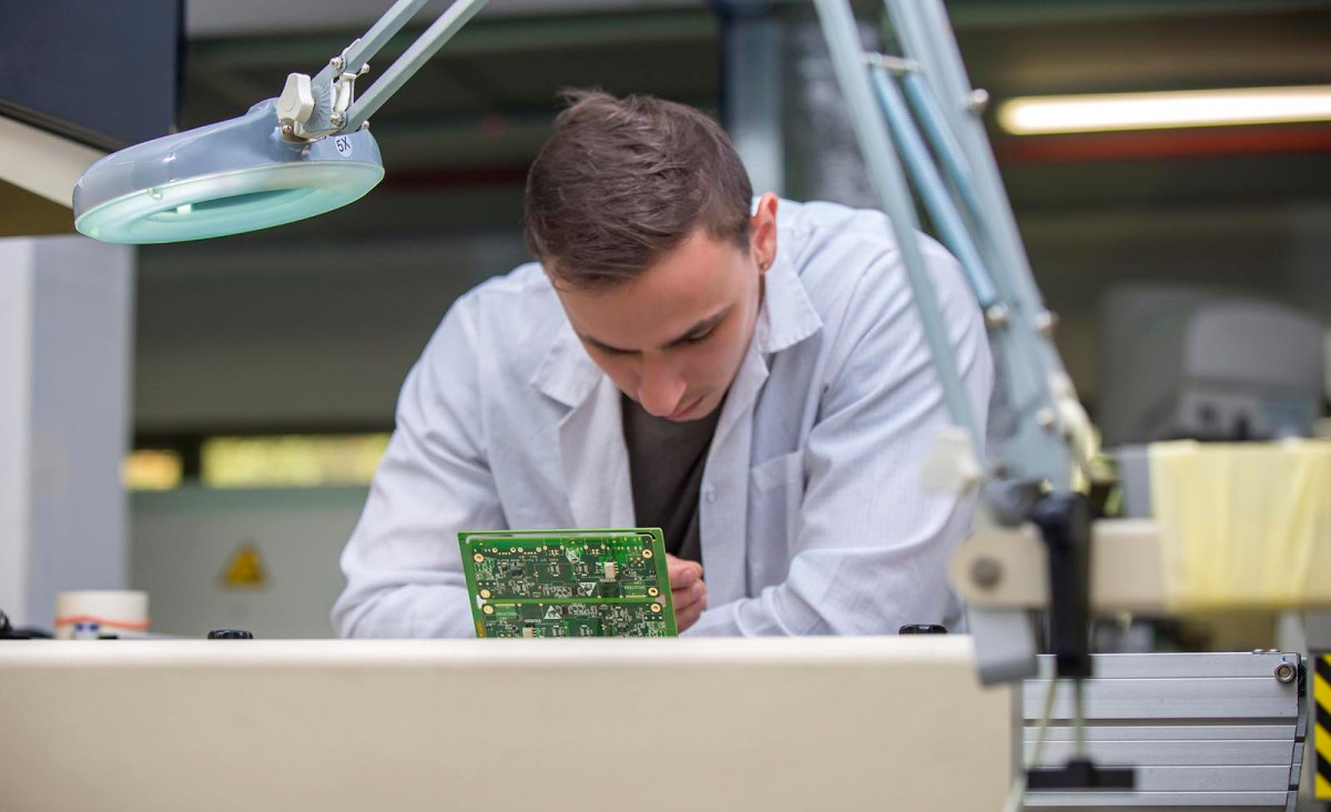 An Israeli technician assembles a circuit board. Photo: iStock