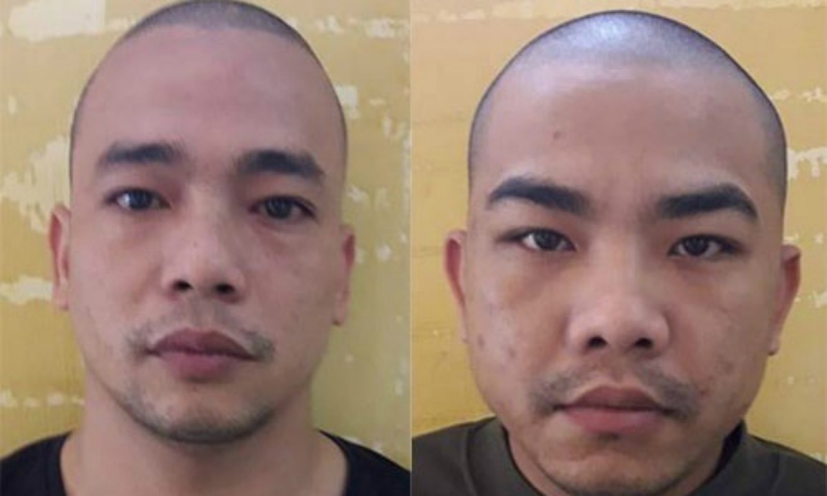 From left: Banh Van Thang and Tran Duc Lap. Photo courtesy of Hanoi Police.
