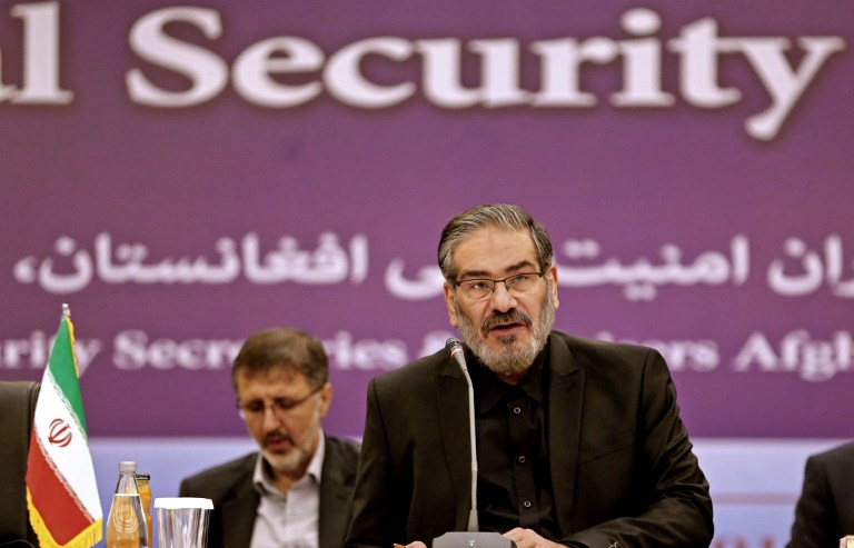 Ali Shamkhani, secretary of the Supreme National Security Council of Iran, speaks during the first meeting of national security secretaries of Afghanistan, China, Iran, India and Russia in Tehran in September. Photo: AFP