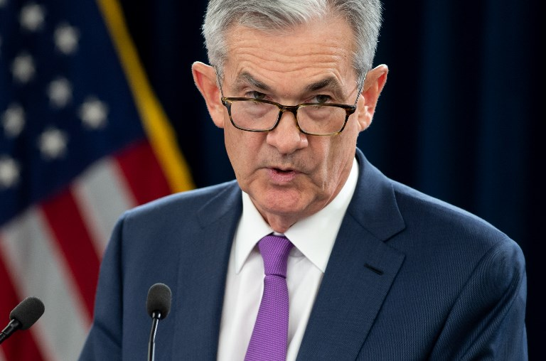 Federal Reserve Chairman Jerome Powell. Photo: AFP/Saul Loebb