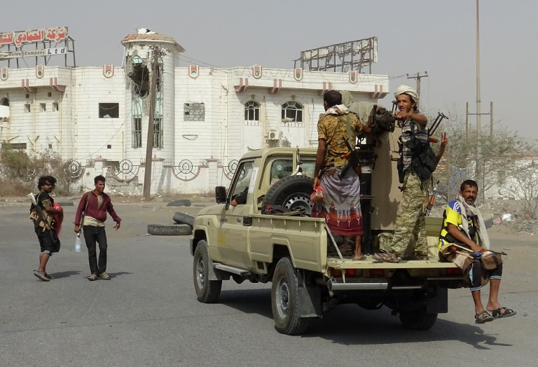 Yemeni pro-government forces in the port city of Hodeida on December 17. Photo: AFP