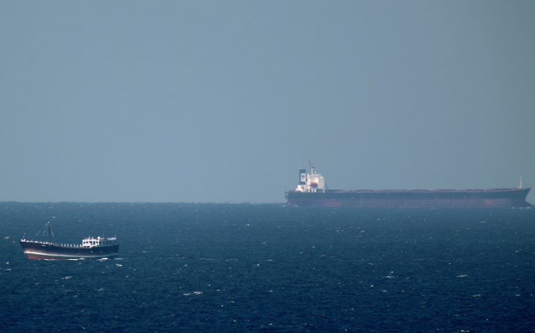 An oil tanker cruises towards the Strait of Hormuz. Photo: AFP/Marwan Naamani