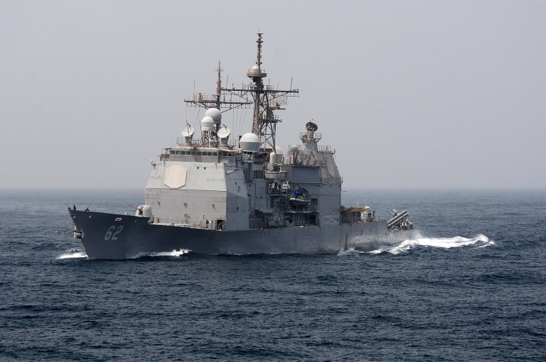 Ticonderoga-class guided-missile cruiser USS Chancellorsville. Photo: US Navy via AFP