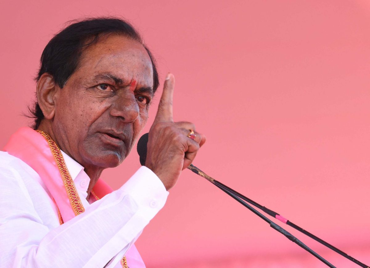 TRS Chief and caretaker chief minister K Chandrashekar Rao. Photo: AFP/The Times  of India
