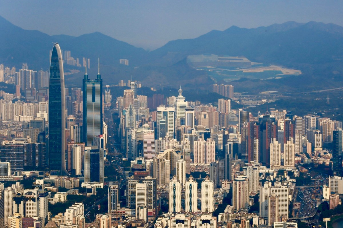 Sprawling skyscrapers in Shenzhen, now a booming tech and financial hub in China. Photo: Xinhua